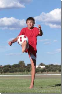 Athlete portrait: Kilian playing Soccer