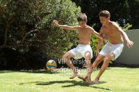 Photo Shoot: Pool Soccer with Keanu and Aidan